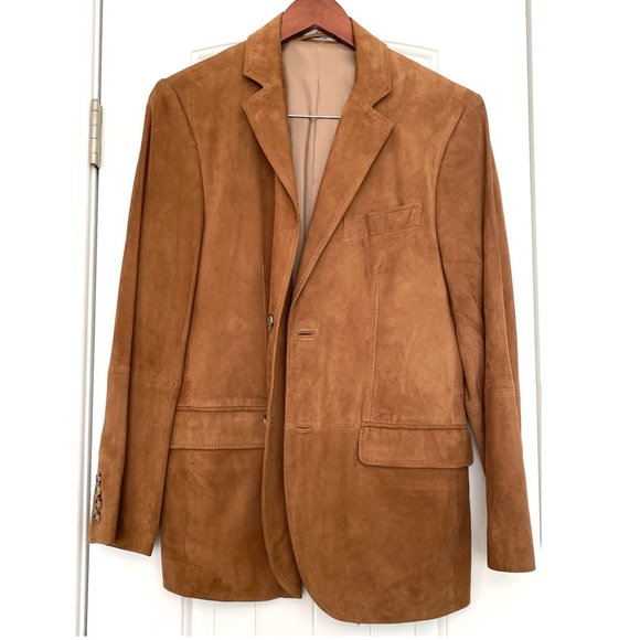 Ralph Lauren 100% Genuine Leather Suede Blazer